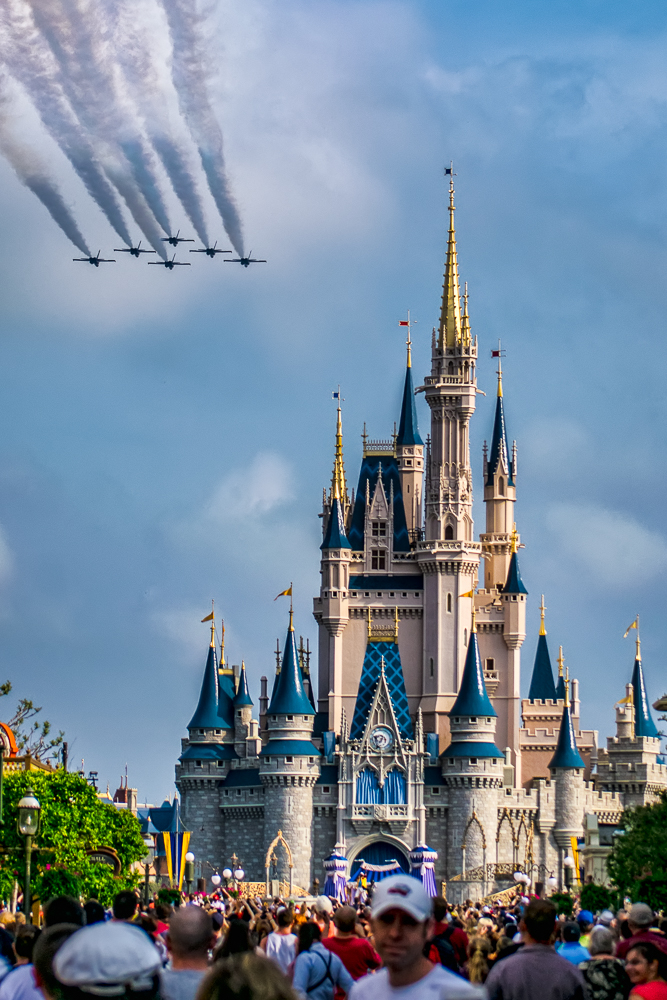 Delta over Cinderella's Castle